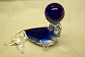 MURANO Handblown Cased Art Glass Seal w/Ball (Image1)