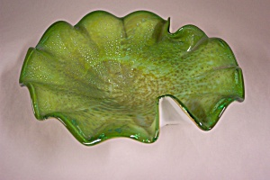 MURANO Handblown Folded Art Glass Bowl (Image1)
