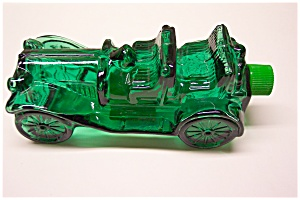 Green Glass Automobile Decanter