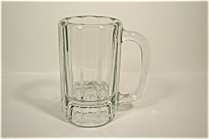 Vintage Anchor Hocking Crystal Glass Ten-sided Beer Mug