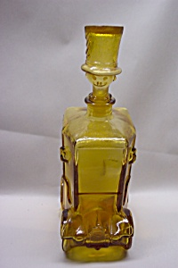 Italian Handblown Glass  Automobile & Clown Decanter (Image1)