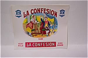 La Confession Cigar Box Label (Image1)