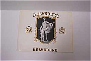 Belvedere Cigar Box Label (Image1)