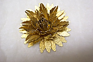 Gold Floral Brooch/Pin (Image1)