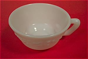 Anchor Hocking White/Milk Glass Daisy Pattern Tea Cup (Image1)