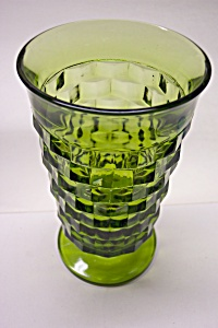 Whitehall Pattern 12 Ounce Footed Green Tumbler