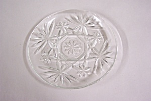 Anchor Hocking Early American Prescut Glass Coaster (Image1)