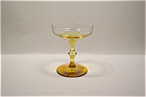 Amber And Crystal Stemware Champagne/Dessert (Image1)