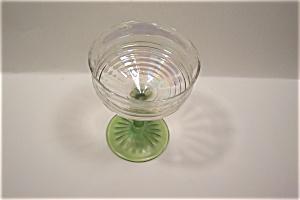 Opalescent Crystal & Light Green Stemware Claret (Image1)