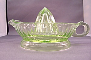Anchor Hocking Green Glass Reamer (Image1)