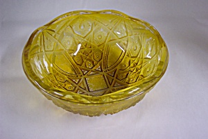 Peach /amber Colored Carnival Glass Bowl