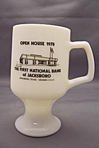 Fire King /Anchor Hocking Advertising Pedestal Mug (Image1)