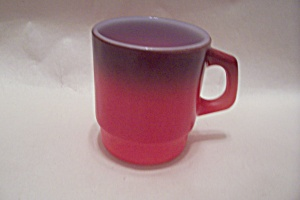 FireKing Red & Brown Mug (Image1)