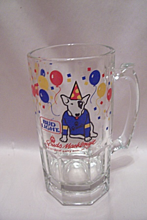 Bud Light Spuds Mackenzie Crystal Glass Beer Mug
