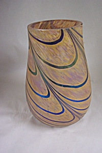 Handblown Cased Art Glass Vase