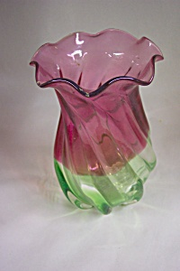 Cased Handblown Art Glass Vase (Image1)