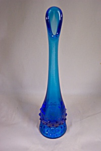 Viking Handblown Cobalt Blue Cased Glass Bud Vase