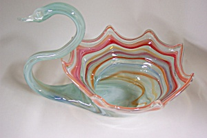 Handblown Cased Art Glass Swan (Image1)