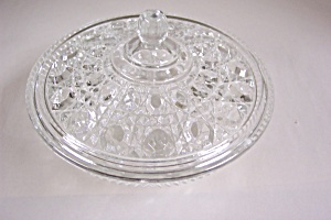 Daisy & Button Crystal Glass Covered Candy Dish (Image1)