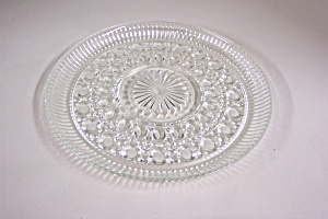 Daisy & Button Crystal Glass Plates