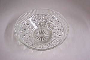 Daisy & Button Crystal Glass Bowl (Image1)
