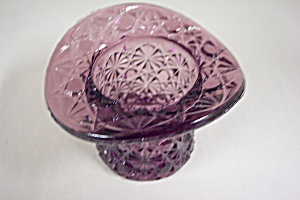 Smith Daisy & Button Handmade Amethyst Art Glass Hat (Image1)