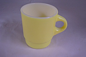 FireKing Yellow & White Glass Mug (Image1)