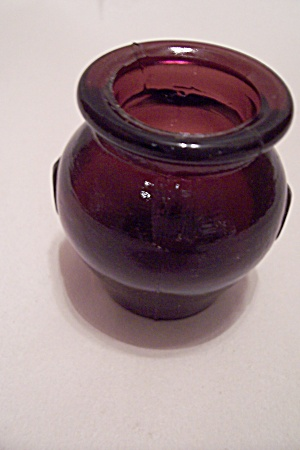 Vintage Amethyst Glass Urn Toothpick Holder