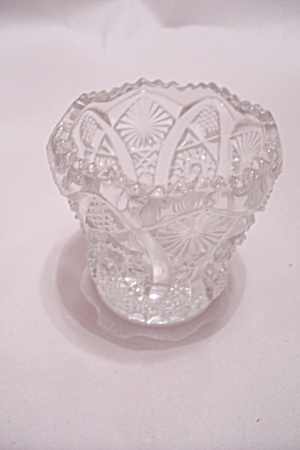 Vintage Crystal Glass Toothpick Holder