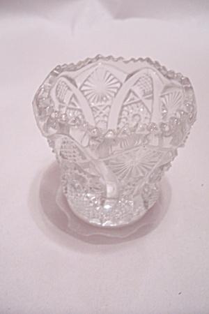Vintage Crystal Glass Toothpick Holder (Image1)