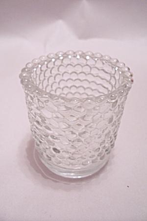 Hobnail Crystal Glass Toothpick Holder (Image1)