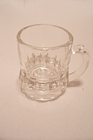 Federal Crystal Glass Mug Toothpick Holder
