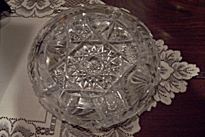 Elegant Lead Crystal Cut Glass Ashtray (Image1)
