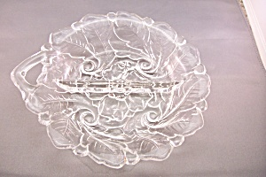 Divided Crystal Glass Candy Dish