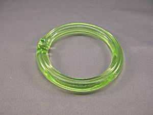Vintage Light Green Glass Pull Ring