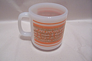Fireking Orange Trimmed Mug