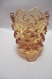 Vintage Fenton Hobnail Footed Toothpick Holder