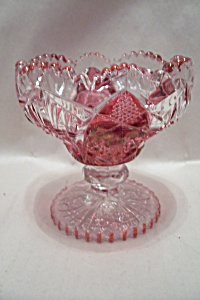Vintage Crystal & Ruby Glass Compote (Image1)