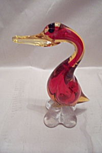 Vintage MURANO Art Glass Duck (Image1)