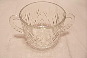 Prescut Pineapple Crystal Glass Large Sugar Bowl (Image1)