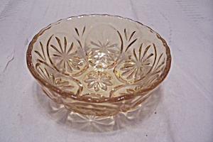 Fireking Amber Glass Berry/dessert Bowl