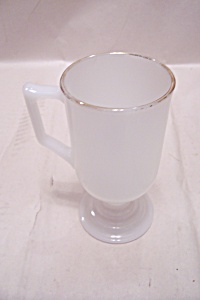 FireKing White Glass Pedestal Mug (Image1)