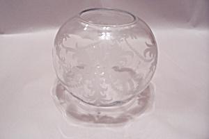 Hawkes Crystal Incised Bulbous Vase (Image1)