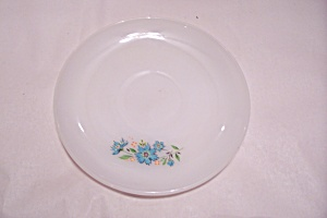 Fireking Blue Floral Pattern Saucer