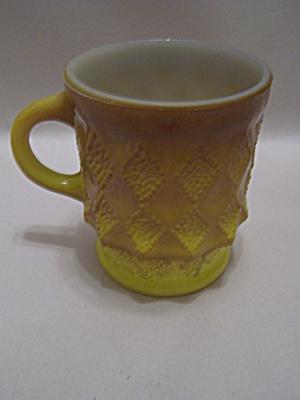 FireKing Yellow & Tan Kimberly Mug (Image1)