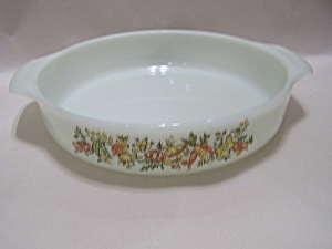 FireKing Anchor Hocking Veggie Decal Casserole (Image1)