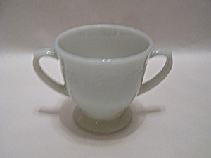 FireKing Gray Laurel Footed Sugar (Image1)