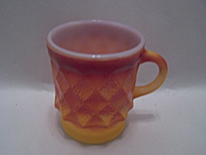 FireKing Orange Glass Kimberly Mug (Image1)