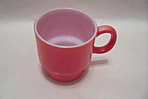 FireKing Red Glass Mug (Image1)