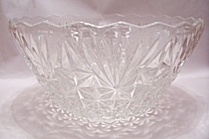 Anchor Hocking Pineapple Pattern Punch Bowl
